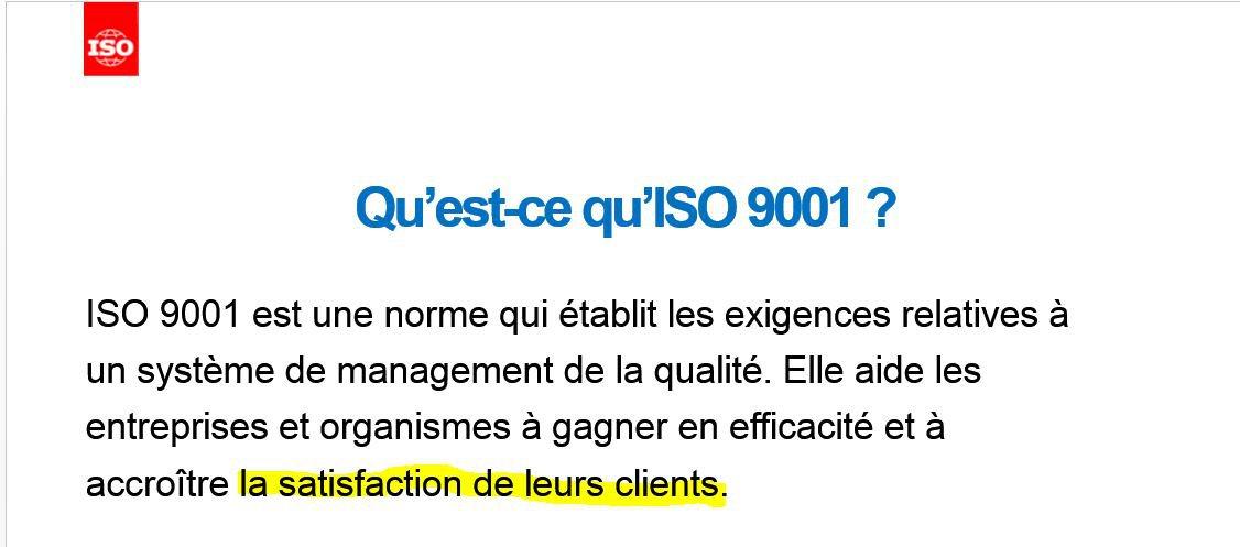Qualité et Satisfaction Client
